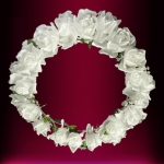 Rose and Crown Rosette Silk